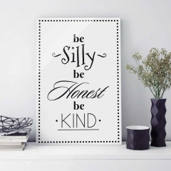 Glasbild: Be Silly Wallart.de
