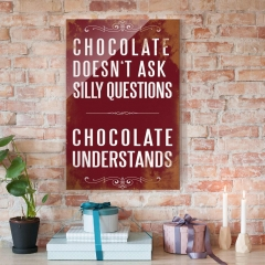 Glasbild: Chocolate Wallart.de