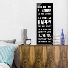 Glasbild: Sunshine Wallart.de