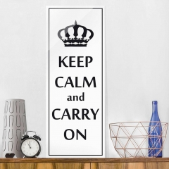 Glasbild: Keep Calm Wallart.de