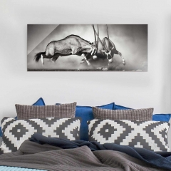 Glasbild: Wilder Kampf Wallart.de