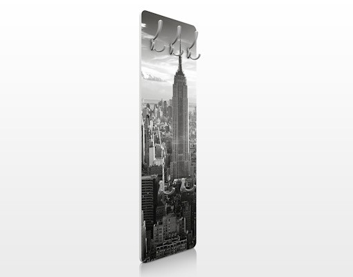 Wallart.de: Wandgarderobe Manhattan Skyline, 139 x 46 cm auf Amazon.de