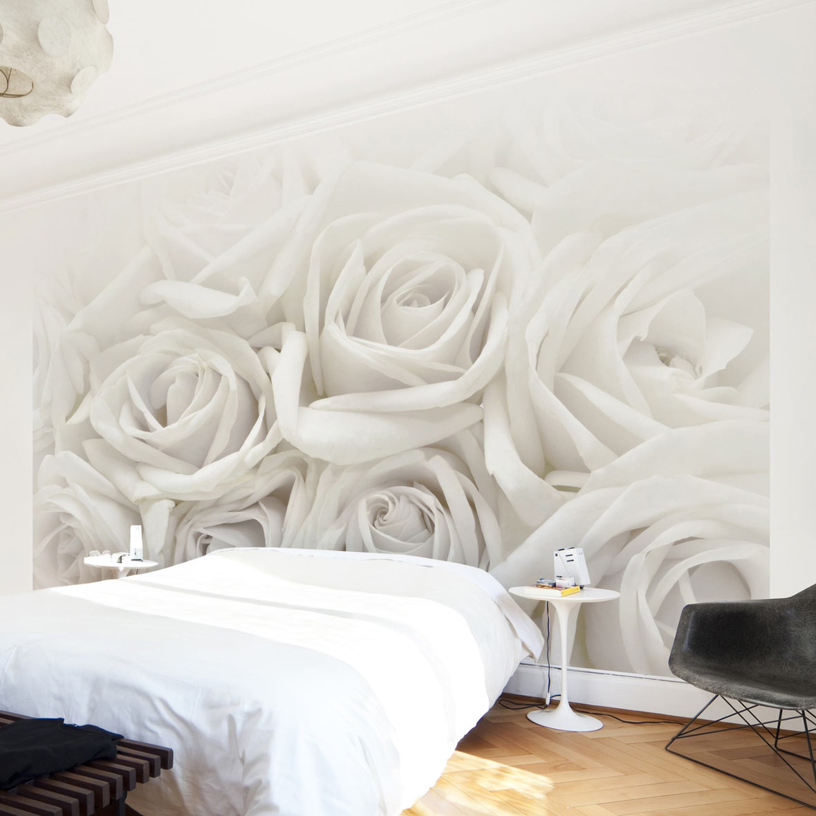 wall art mit rosentapete selbstklebend magazin. Black Bedroom Furniture Sets. Home Design Ideas