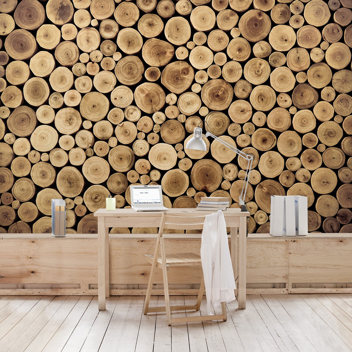 wall art mit holztapete selbstklebende tapete. Black Bedroom Furniture Sets. Home Design Ideas
