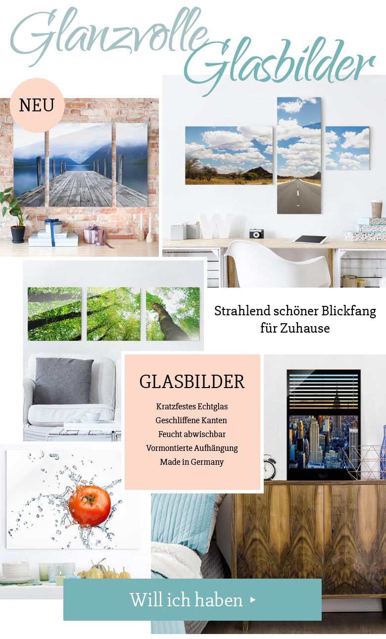 glasbilder wall art klebefolien magazin. Black Bedroom Furniture Sets. Home Design Ideas