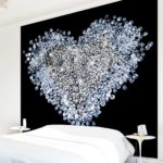Diamantherz Schlafzimmer Tapete | Magazin Wallart.de